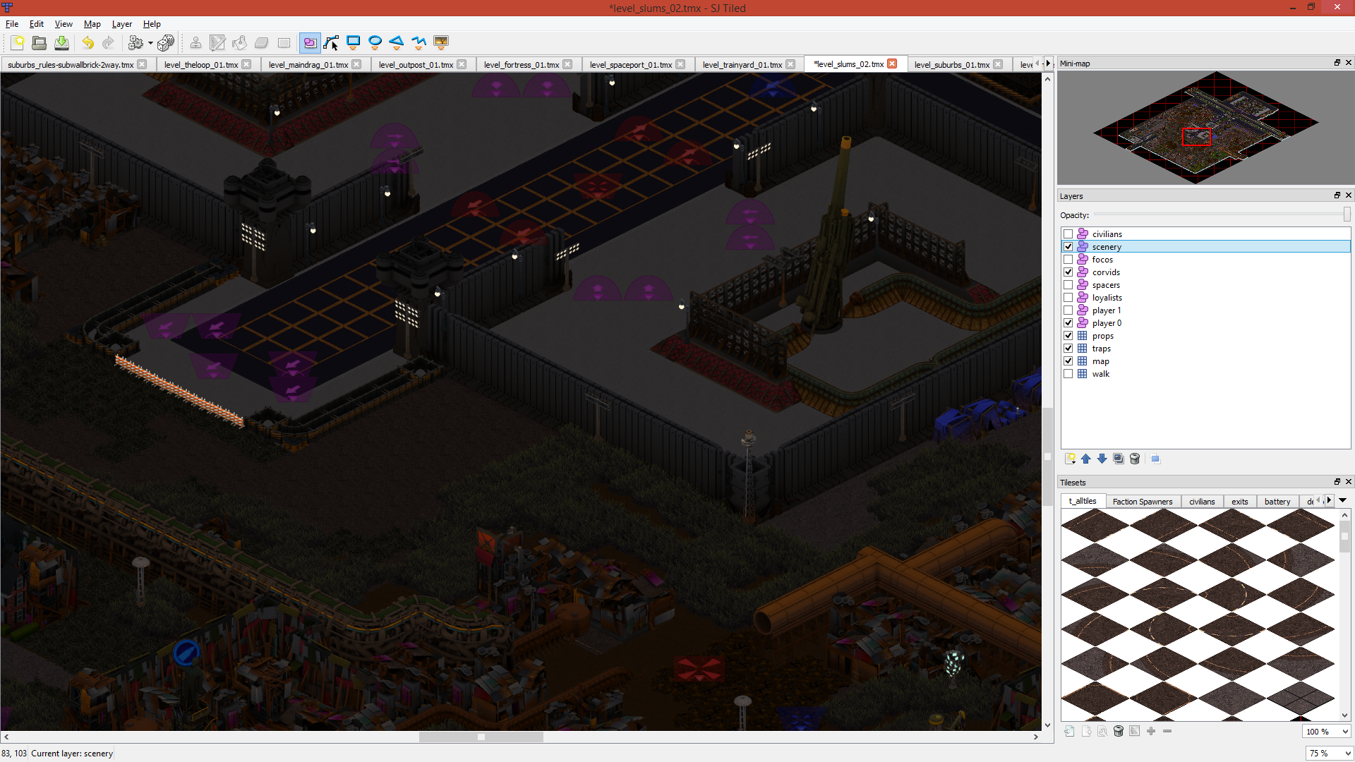The Tiled map editor: