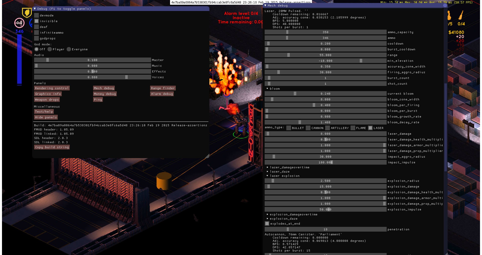 We built the game ourselves in C++ & allow for live-editing values: