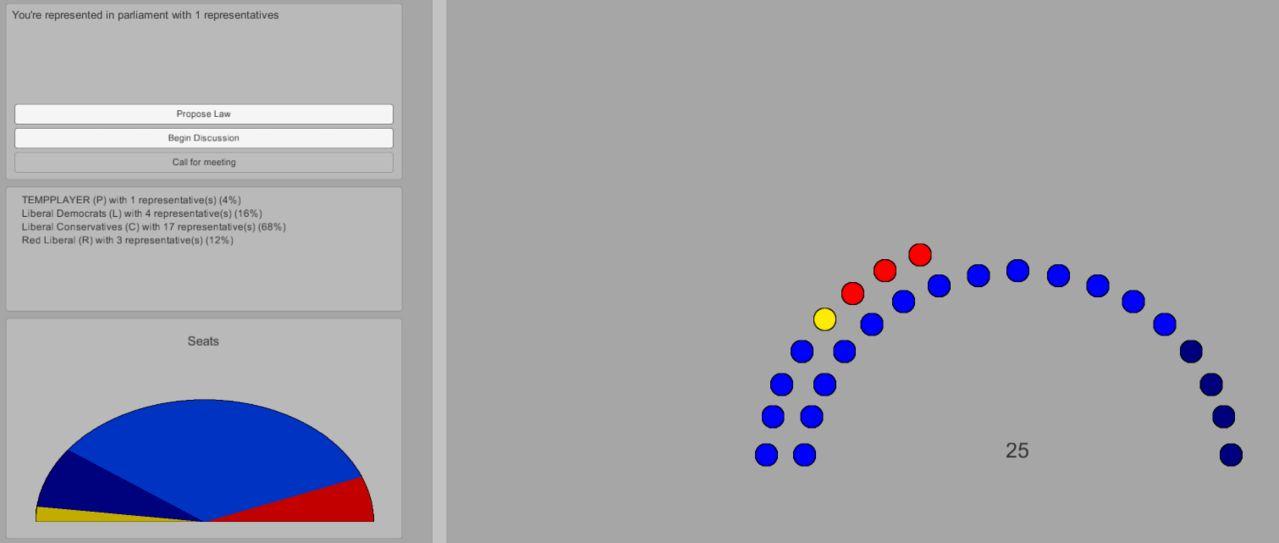 WIP screenshot of the parliament