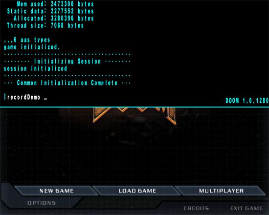 Doom 3 Console