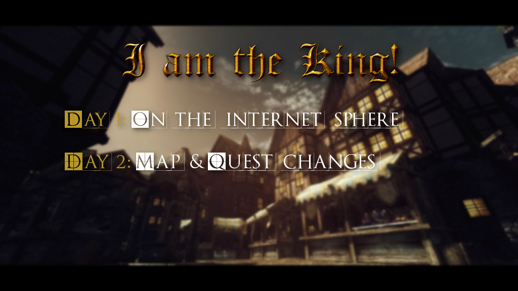 Map & Quest changes news - I am the king ! mod for Elder