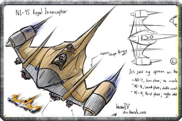 Concept art of the Naboo Attacker by VectorIV