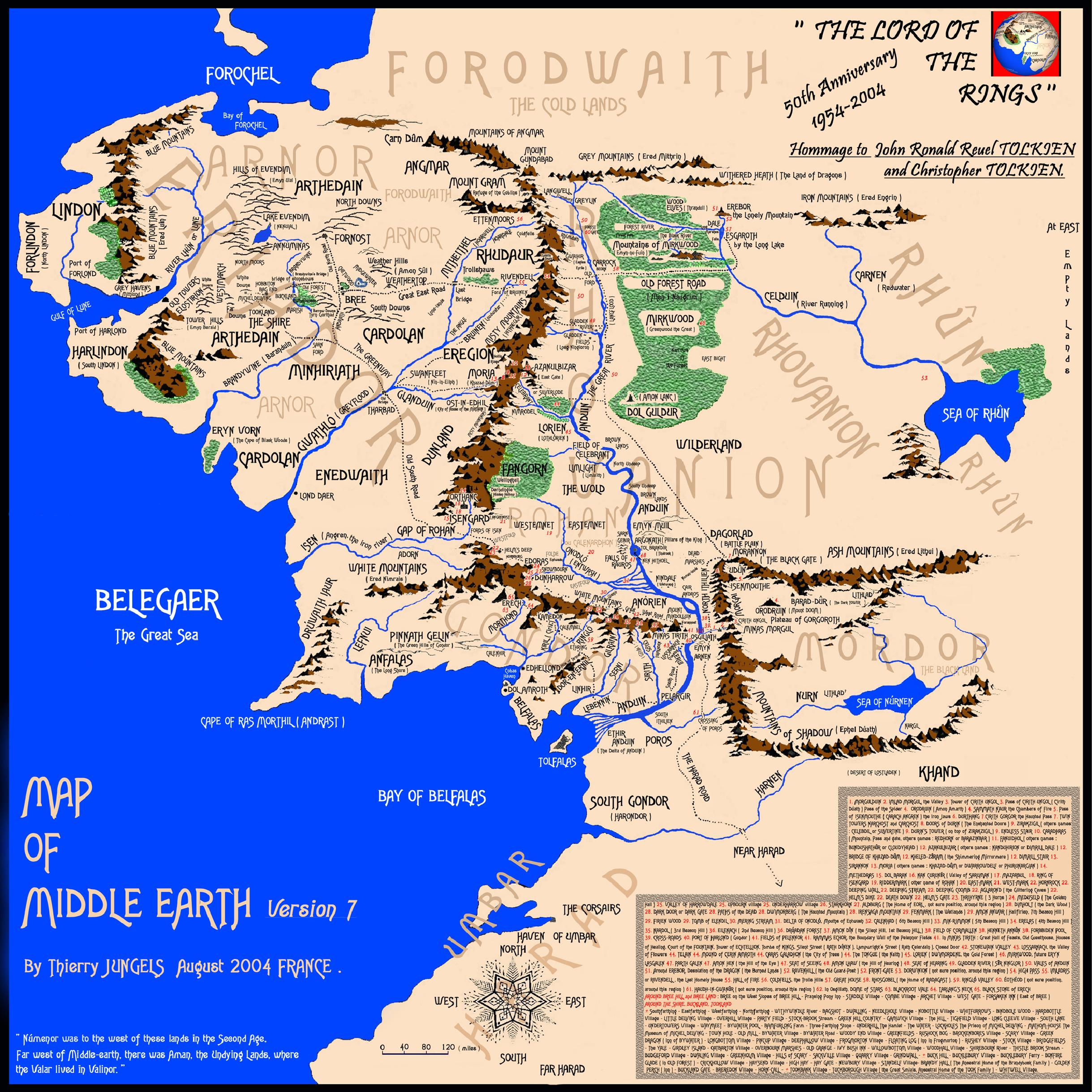 middle earth map threeblindantscom