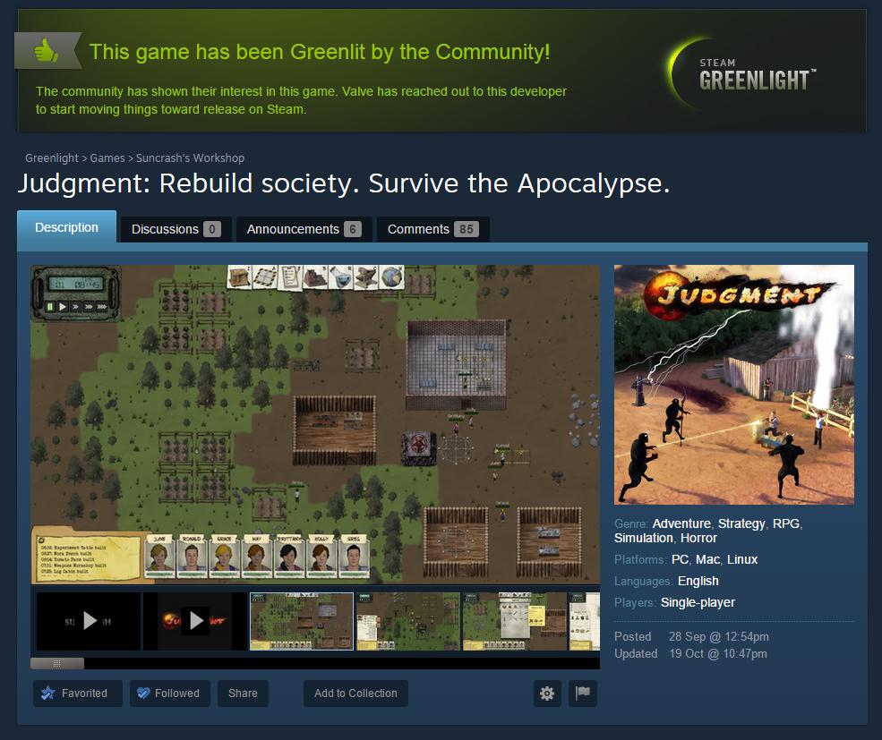 Judgment has been Greenlit!