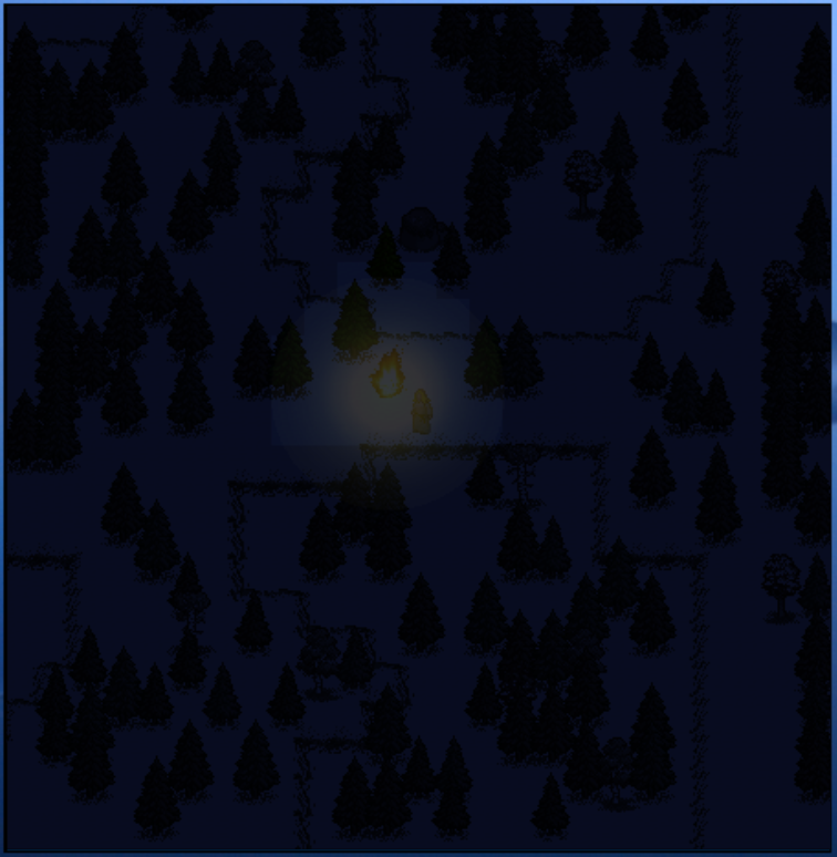 UnReal World - lighting preview, winter forest