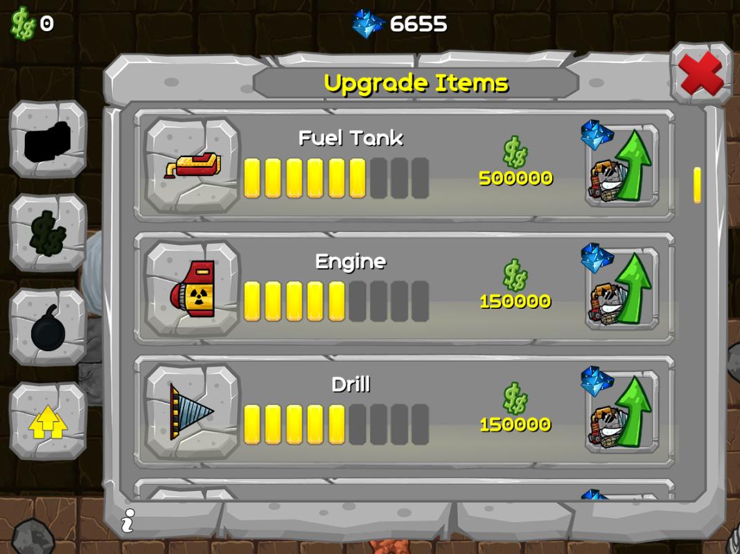 upgrade shop digger machine