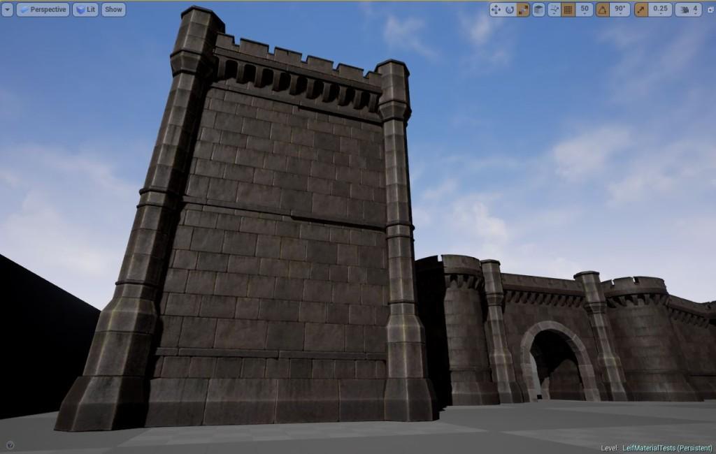 Screen shot of the new castles in Fictorum
