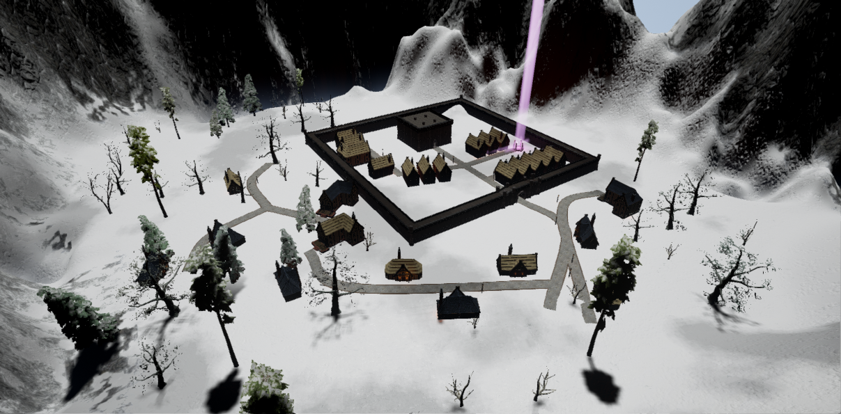 Improved snowy castle within the action RPG Fictorum