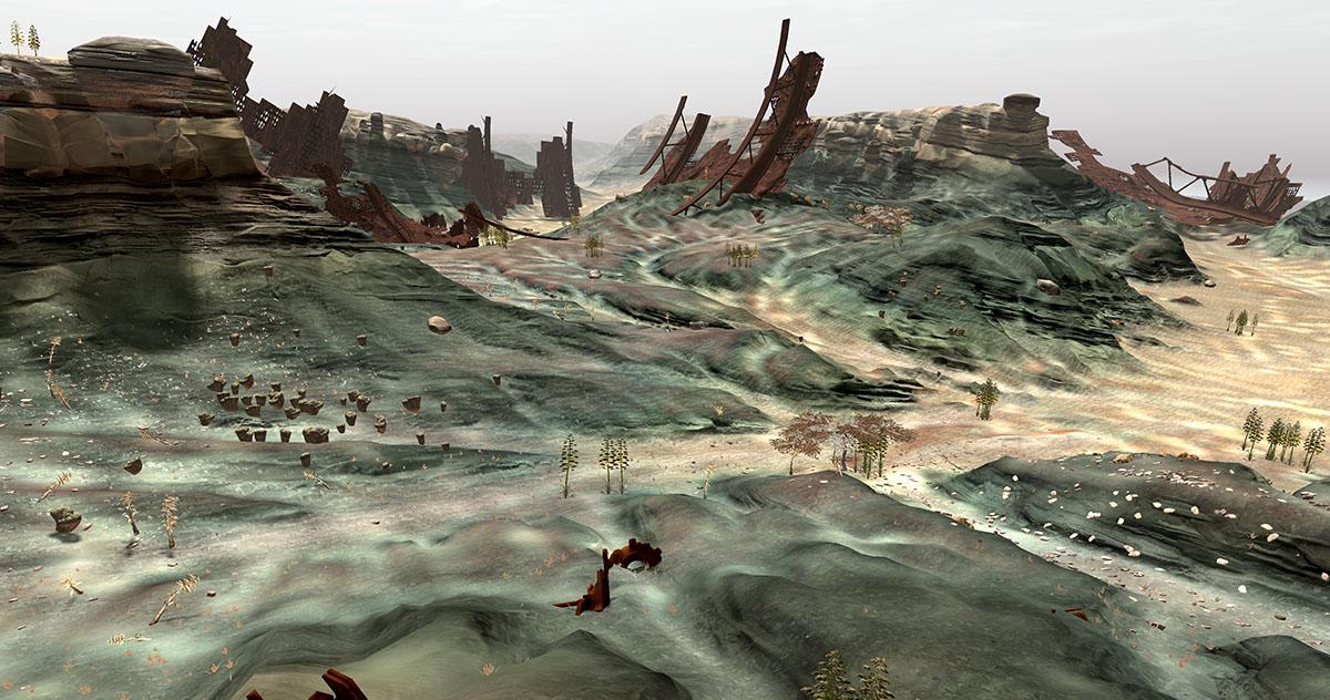 land wreckage
