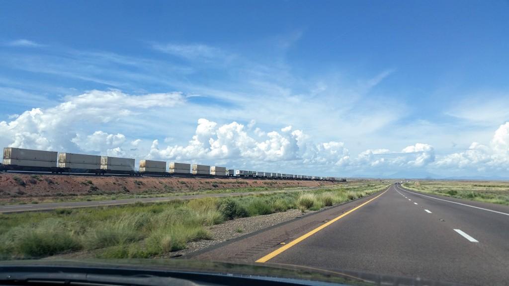 Photo my wife Alexandria Corbin took on our honeymoon on I-40 in Arizona