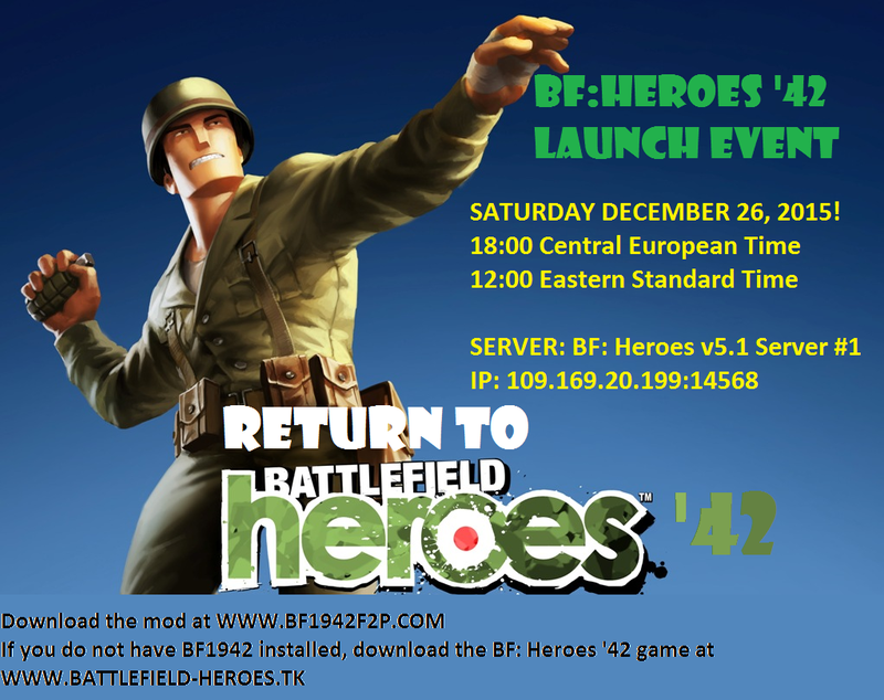 BF: Heroes '42 Launch Event at 26th DEC!