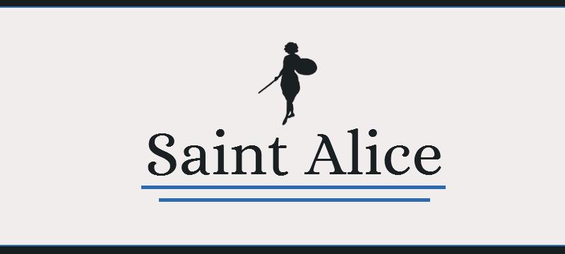 Saint Alice title.