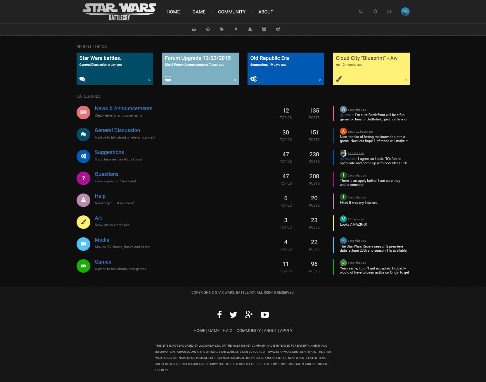 Community Forum Desktop