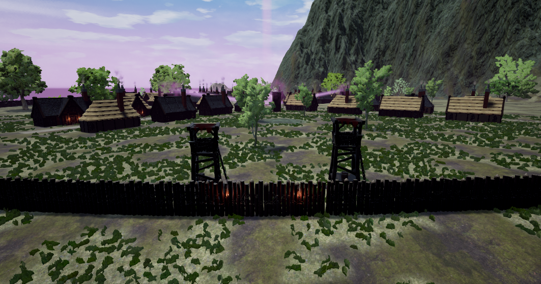 Fictorum walls and town