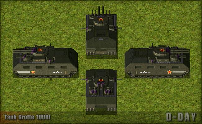 Tank Grotte 1000t news - D-day mod for C&C: Yuri's Revenge