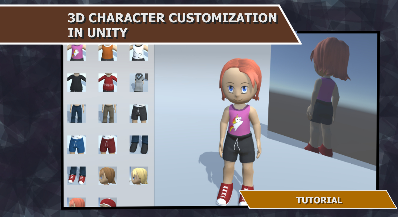 3d character customization in unity tutorial