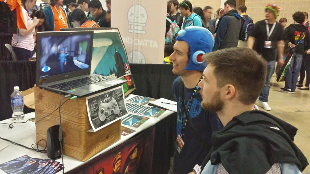 Even Megaman liked Karaski at PAX South 2016
