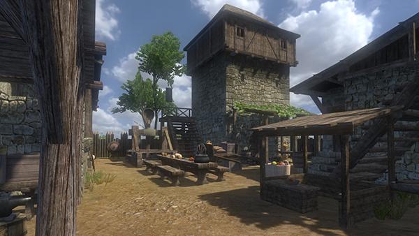 An in-game screenshot of a clan camp