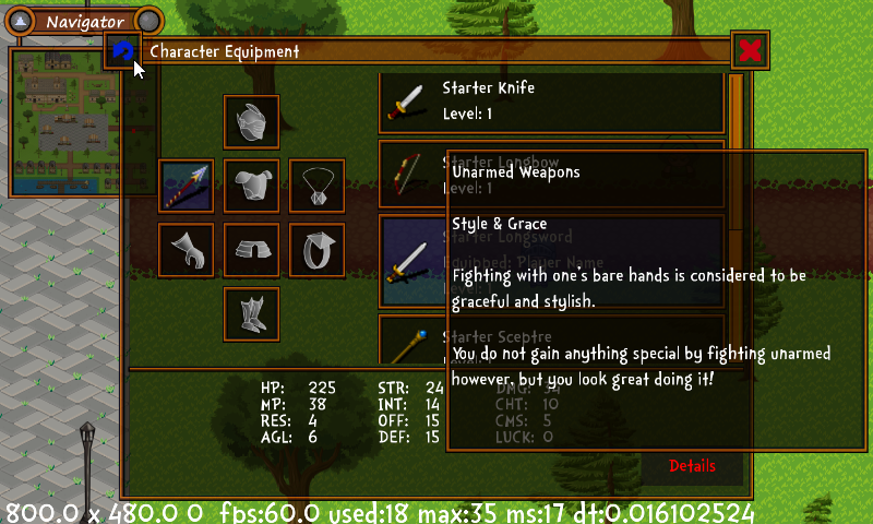 New Tooltips for equipment details