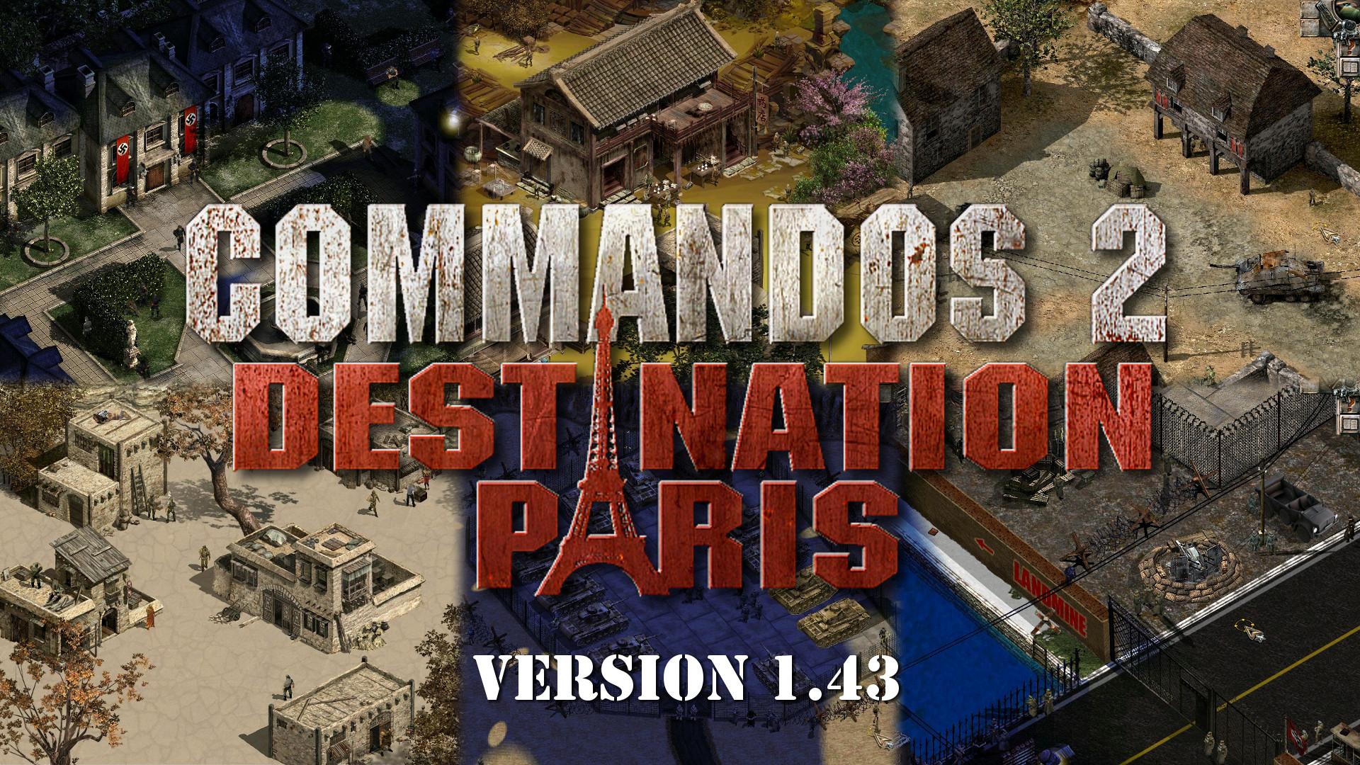 commandos 2 destination paris mod 1.40
