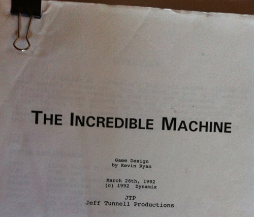 The Incredible Machine Design
