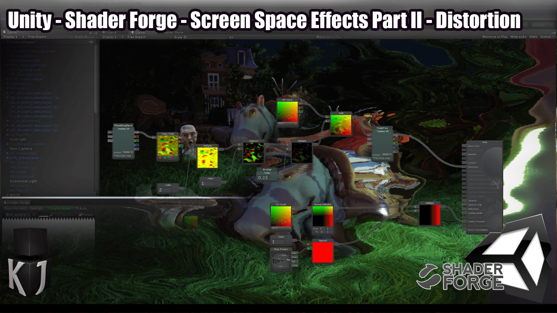 Screen Space Effects in Unity using Shader Forge tutorial