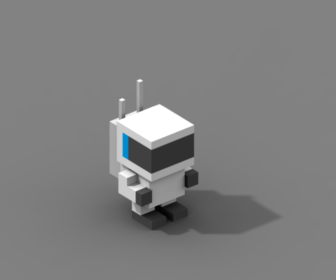 voxel spaceman created in magicavoxel
