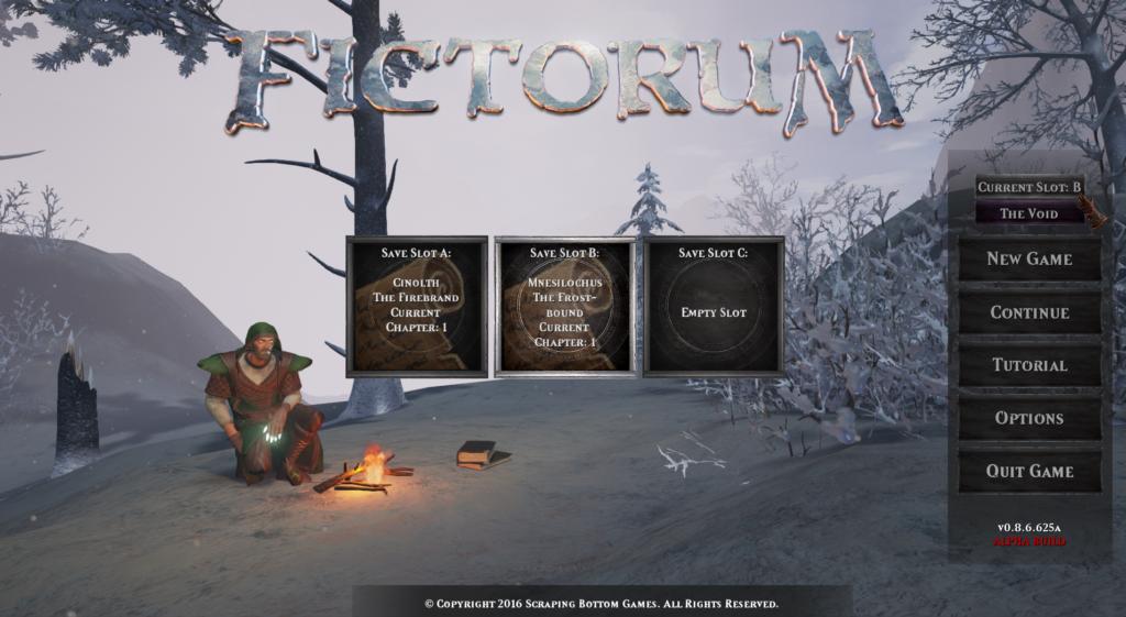 Fictorum Save Slots