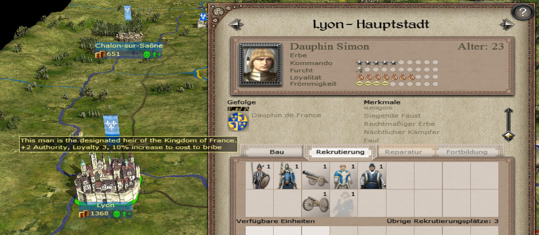 Showing that the new heir has now the title Dauphin of France
