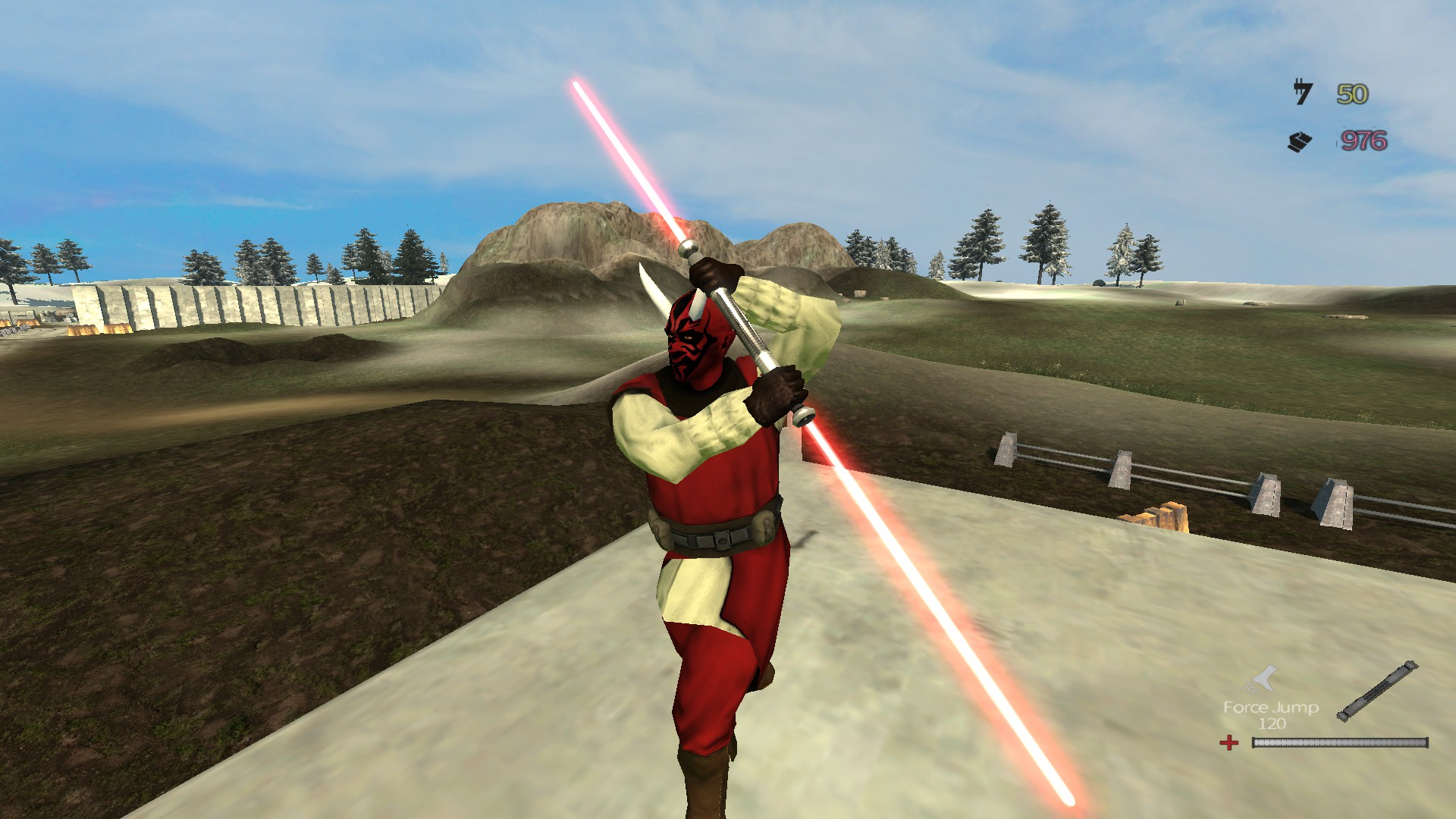 Double bladed lightsaber