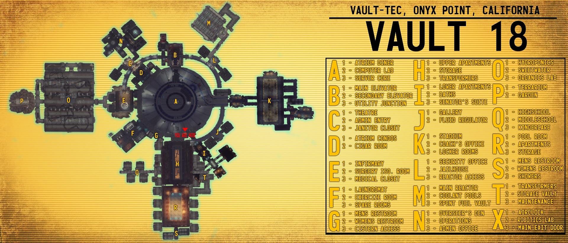 Vault 18 Complete Map