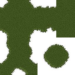 A pixel art grass tileset