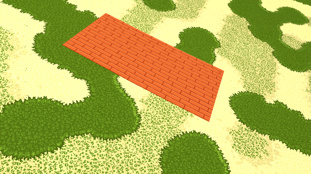 Screenshot of the terrain with organic and inorganic tiles at the same time