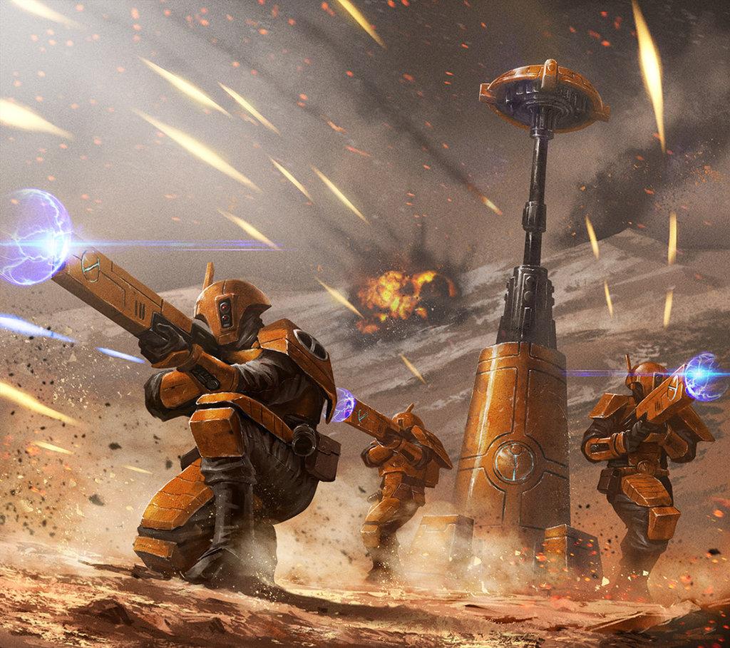 Tau Release Trailer News Men Of Warhammer Chaos Rising