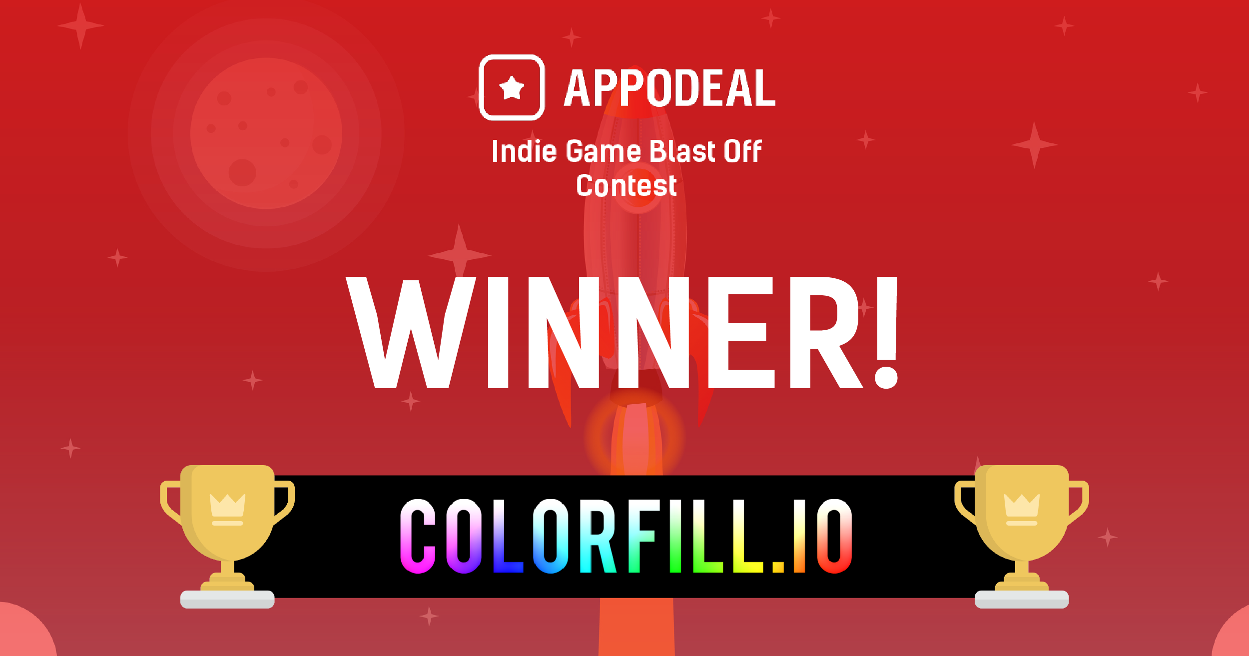 Colorfill.io Wins the Appodeal Indie Game Blast Off Contest