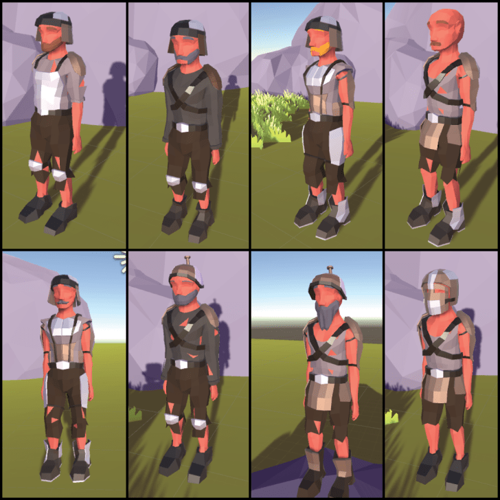 techies outfits lowpoly floatalands
