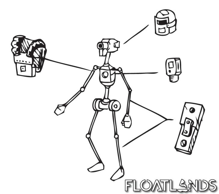 modular armour lowpoly floatlands