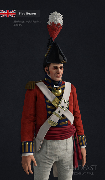 Holdfast NaW - British Flag Bearer (23rd Royal Welch Fusiliers - Ensign)