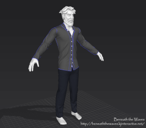 Progress on the model of the player character.