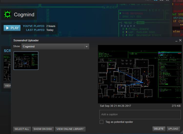 cogmind_steam_screenshot_integration_first