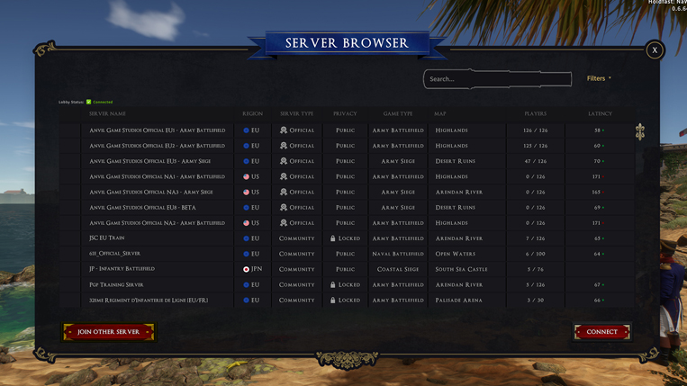 Holdfast NaW - Server Browser Search
