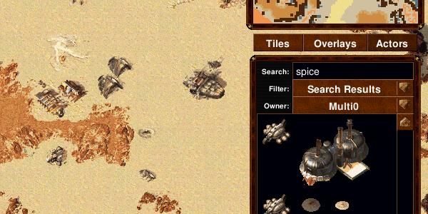 Map editor filtering