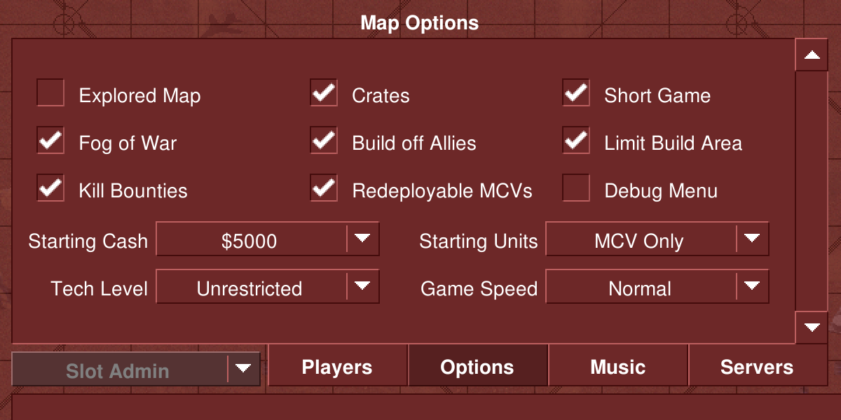 Expanded game options