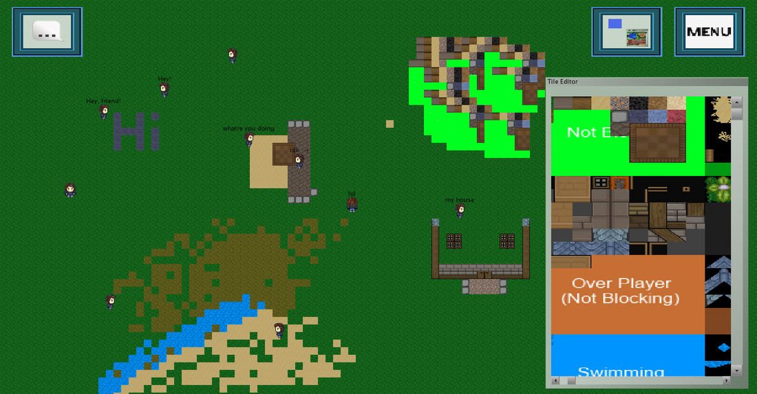 Play games created using World of Hello, like this level editor MMO