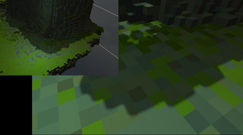 Shadows improvement closeup