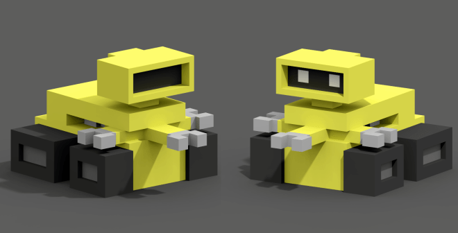 bot version with and without eyes