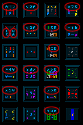 cogmind_achievement_icons_generic_foreground_number_samples