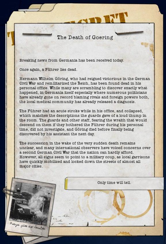 Dev Diary VIII: Götterdämmerung - Part II (Göring) news