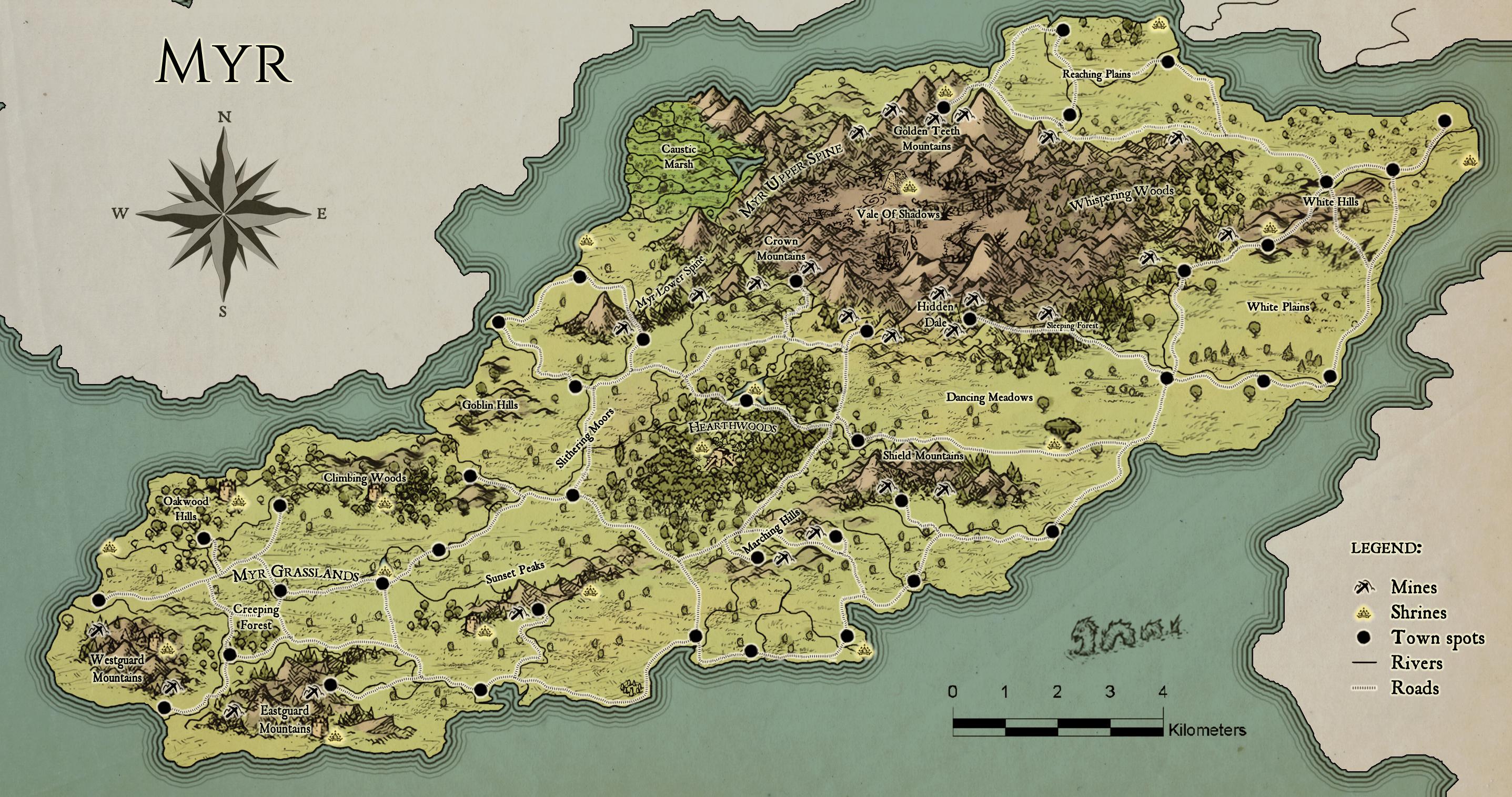 Syndesia: Myr (Alpha 1 Map)