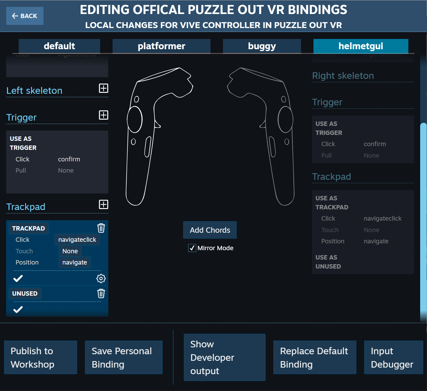 How to use Vive's trackpad for menus using SteamVR 2 0 (Part